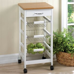 Kitchen Cart with Wood Top by Zingz & Thi..