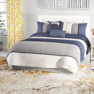 Wes 7 Piece Reversible Comforter Set