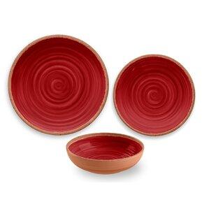 Rustic Swirl Melamine 12 Piece Dinnerware Set, Service For 4