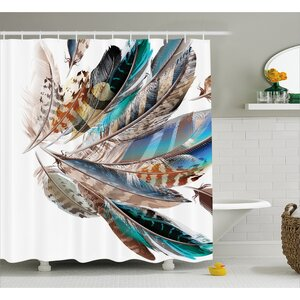 Contour Flight Feathers Decor Shower Curtain