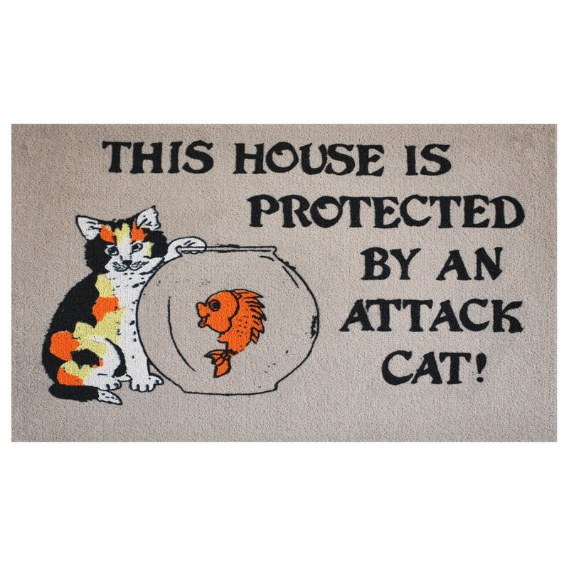 Attack Cat Doormat  sc 1 st  Wayfair.com & Home u0026 More Attack Cat Doormat u0026 Reviews | Wayfair pezcame.com