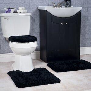 Non Slip 3 Piece Bath Rug Set