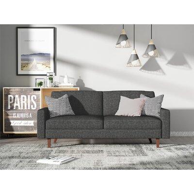 Turn on the Brights Glennon Sofa Upholstery: Dark Gray