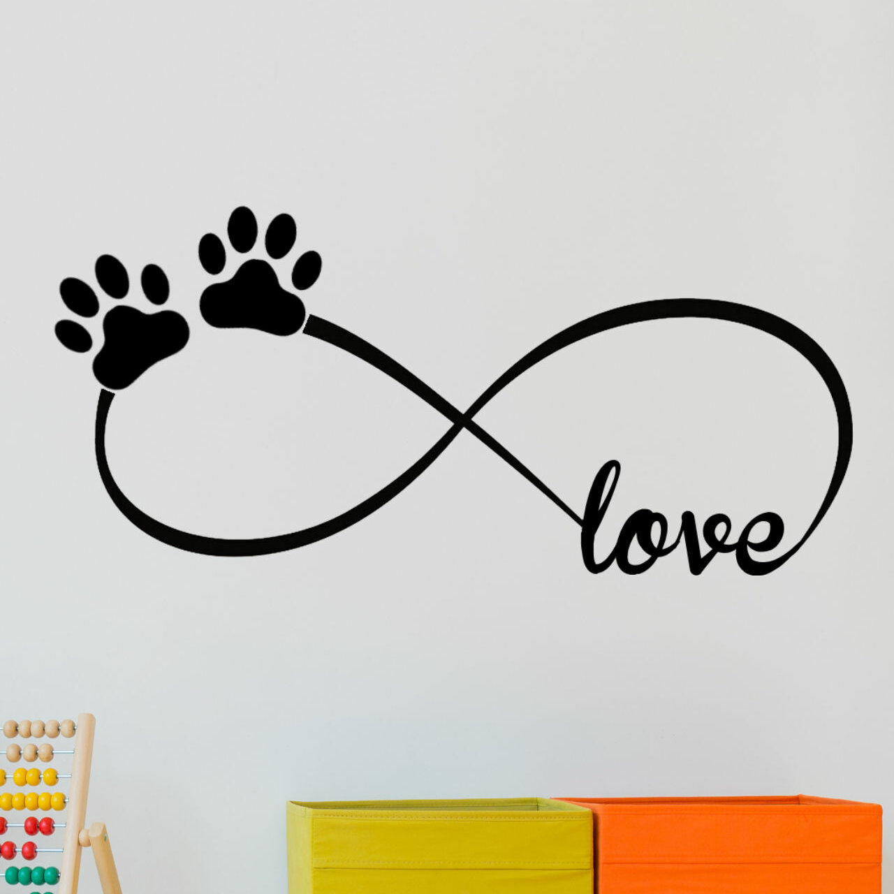 Decalthewalls infinity love symbol with pet paws vinyl wall decal decalthewalls infinity love symbol with pet paws vinyl wall decal reviews wayfair biocorpaavc
