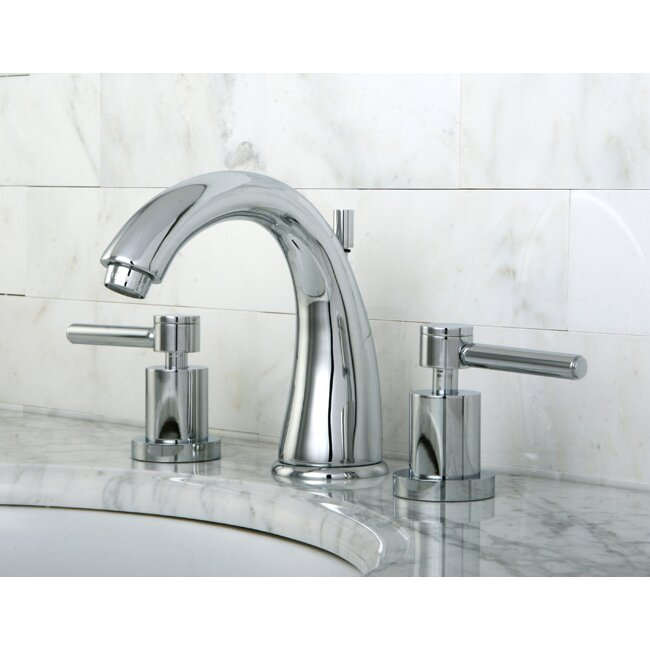 Concord Double Handle Widespread Bathroom Faucet With Brass Pop Up Drain