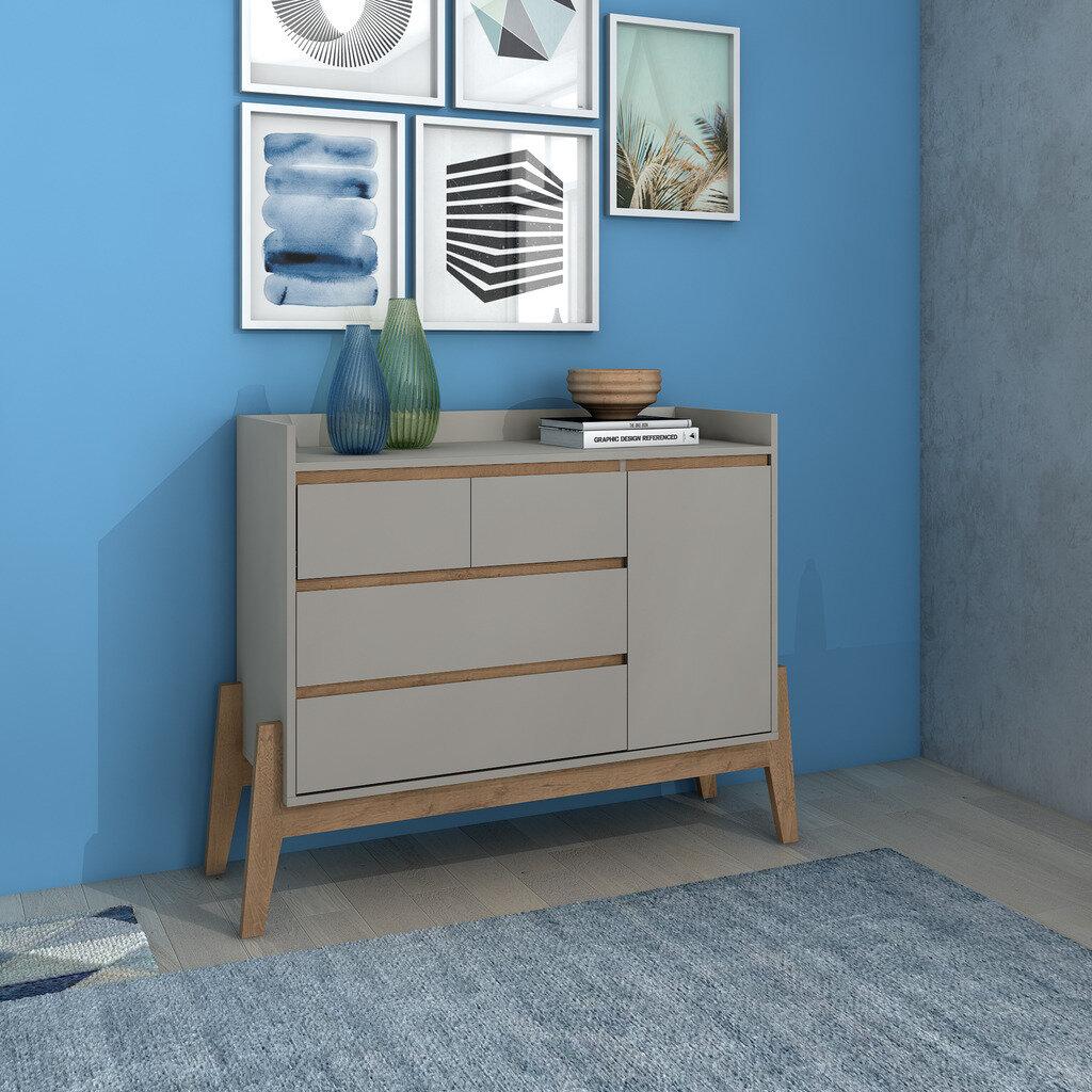Union Rustic Taul 4 Drawer Combo Dresser | Wayfair