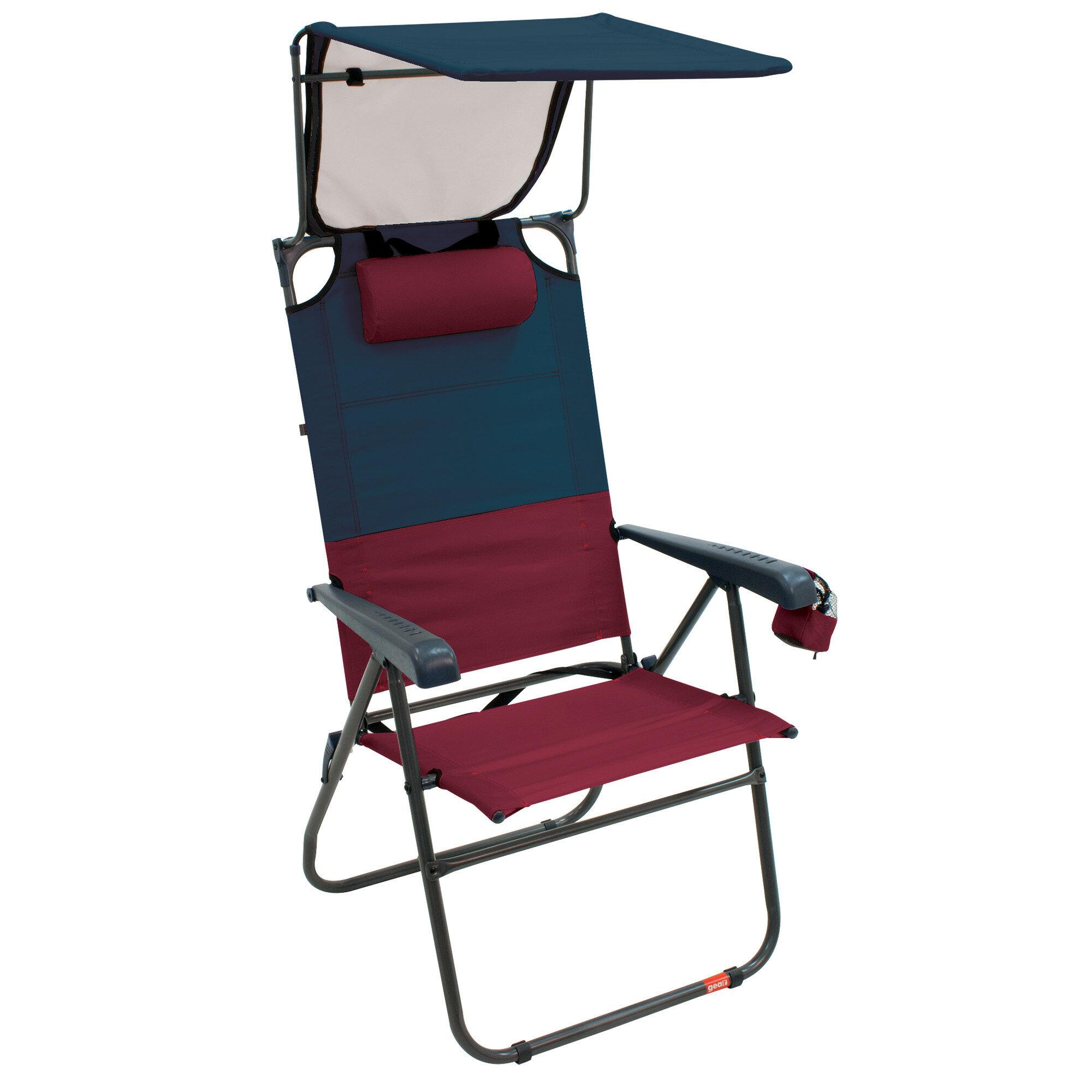 8905a163c7 Gear Hi-Boy Aluminum Canopy Reclining Beach Chair