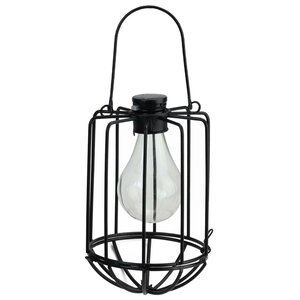 Chessani Cylindrical Solar Powered 1-Light Outdoor LED Hanging Lantern