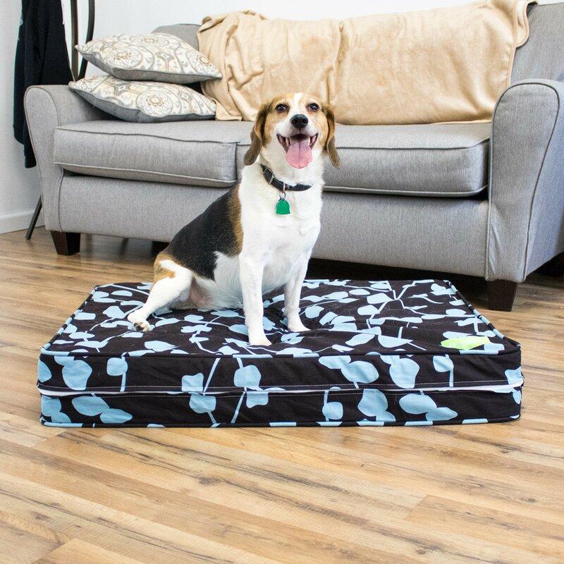 natural latex orthopedic dog bed with waterproof encasement