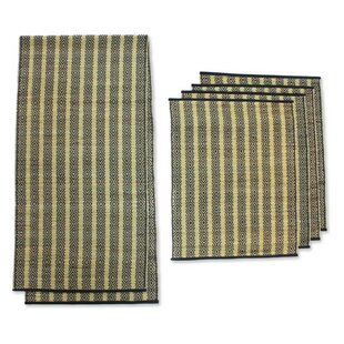Ethnic Natural Fiber Table Runner and Placemat Set  sc 1 st  Wayfair & Table Runner And Placemat Set | Wayfair