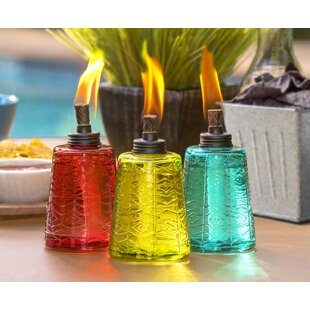 Glass Tabletop Torch (Set Of 3). By TIKI Brand
