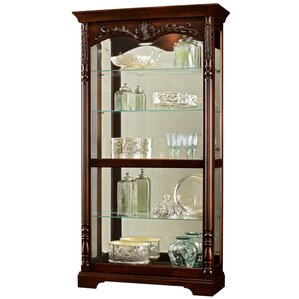 Felicia Lighted Curio Cabinet by Howard M..