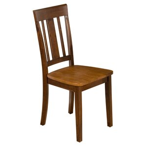 Triple Upright Solid Wood Dining Chair (Set of 2) by Jofran