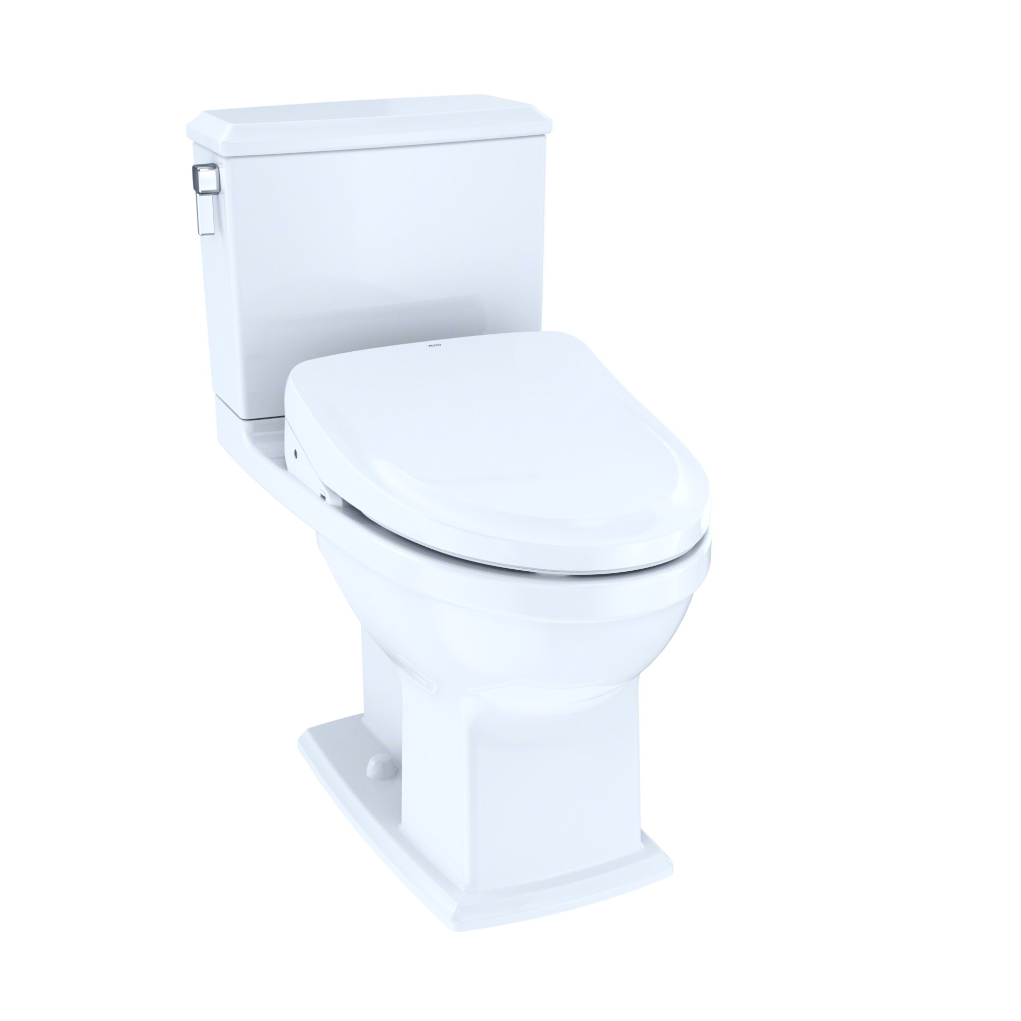Toto Connelly Dual Flush Elongated Two Piece Toilet With Ewater Wayfair