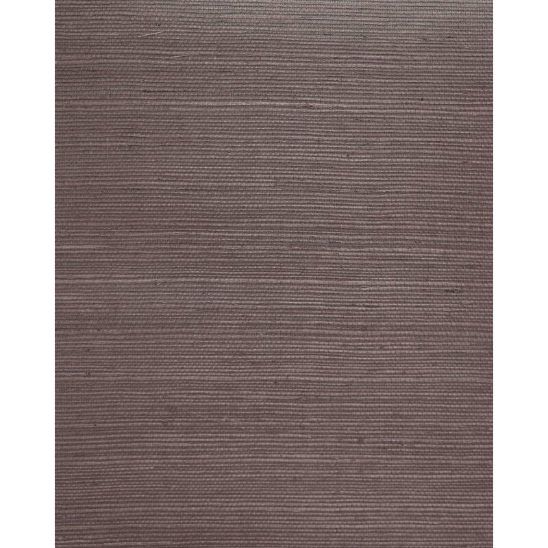 "17 Stories Cosmo 24 L x 36"" W Plain Sisals Wallpaper Roll  Color: Lavender"