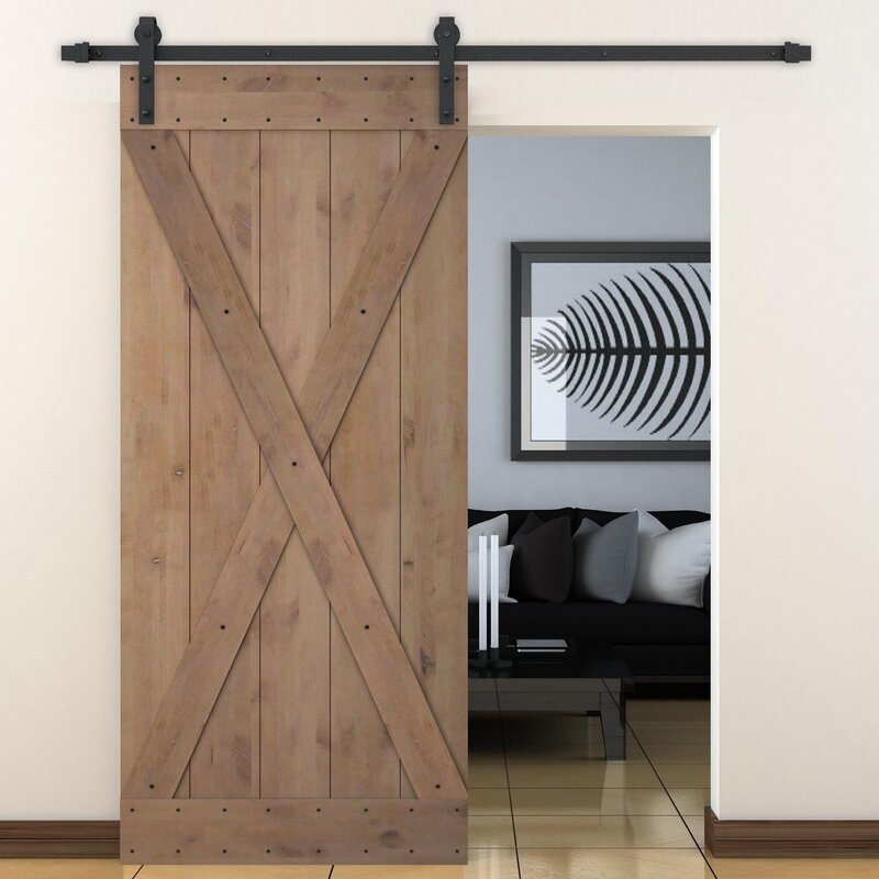 Calhome bent strap sliding door track hardware and x - Interior barn door track hardware ...