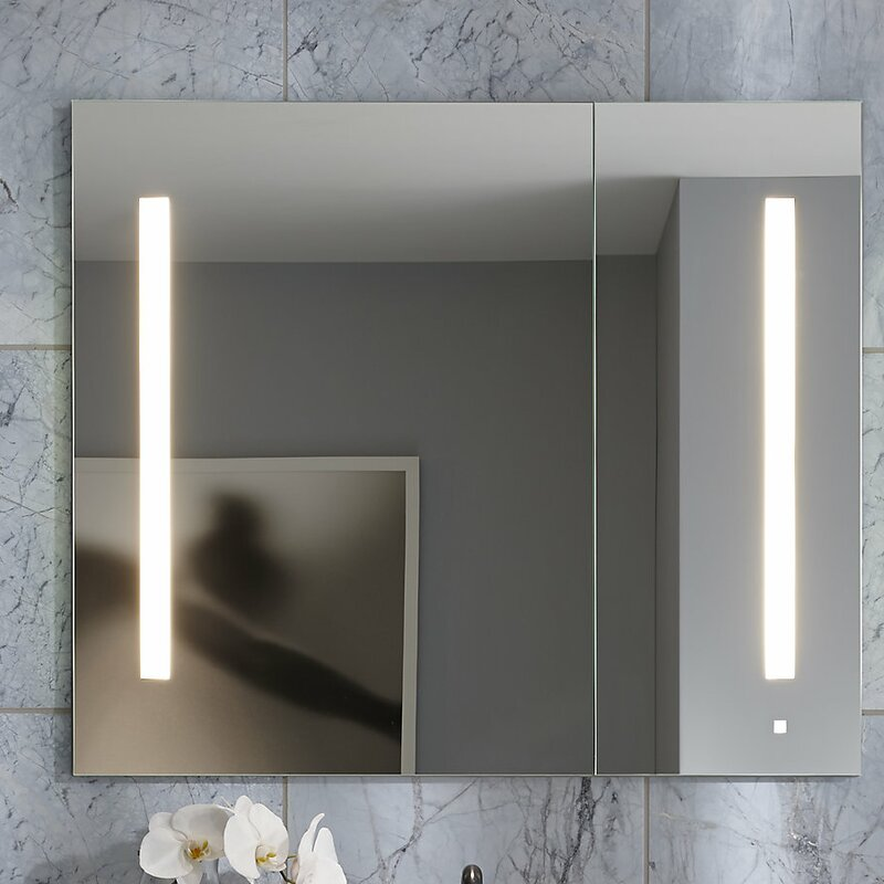 Aio 23 25 X 30 Recessed Medicine Cabinet With Lighting