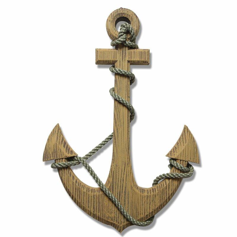 Marvelous Nautical Wood Anchor Wall Decor