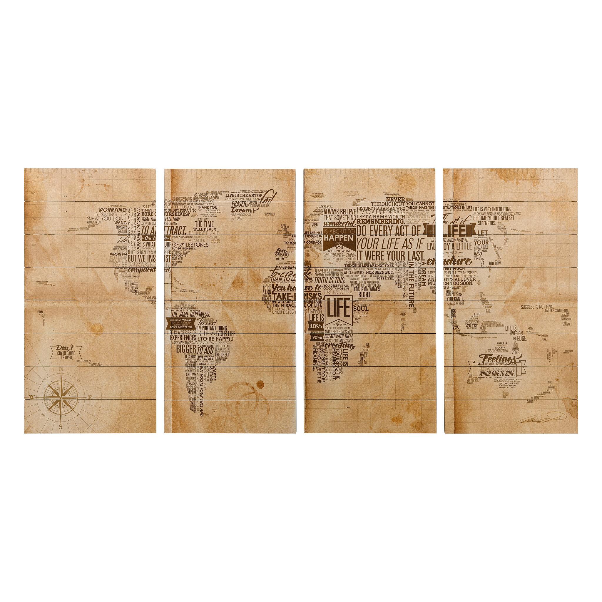 Trent Austin Design \'World Map\' Graphic Art Print on Wood & Reviews ...