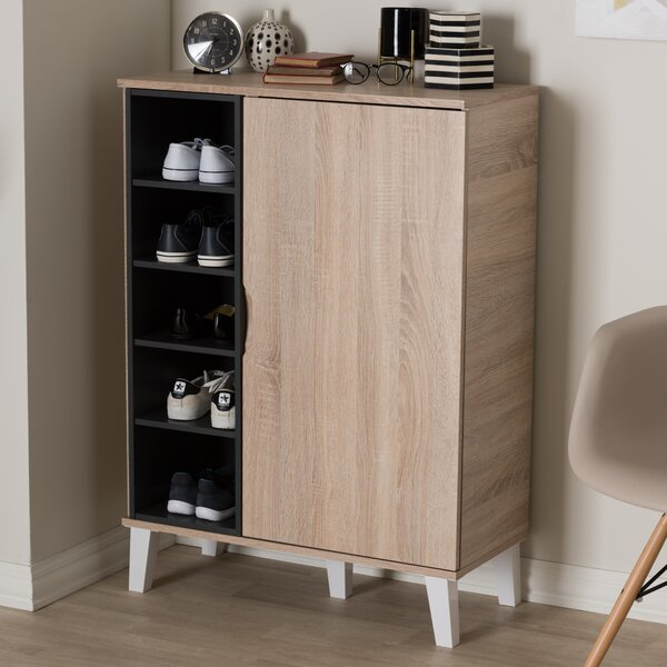 Corrigan Studio Jamar 24 Pair Shoe Storage Cabinet