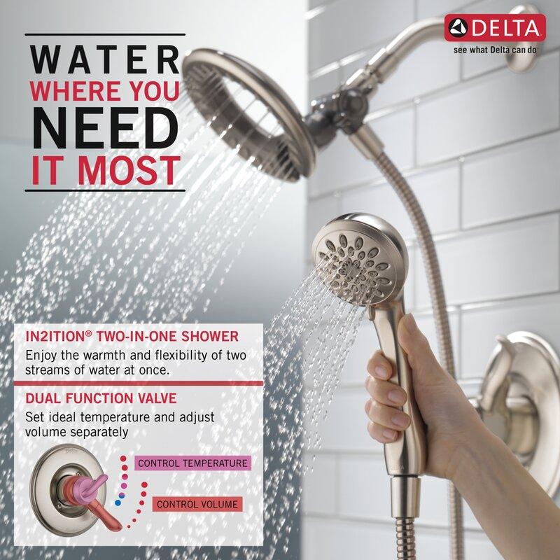 Delta Linden Dual Function Complete Shower System & Reviews   Wayfair