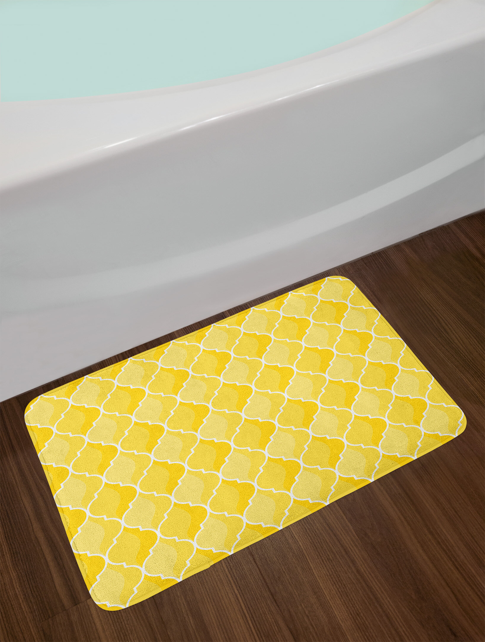 East Urban Home Ambesonne Yellow Bath Mat by, Ancient Moroccan ...