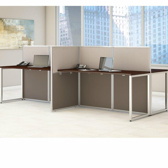 Easy Office 60W 4 Person Straight Desk Open Office