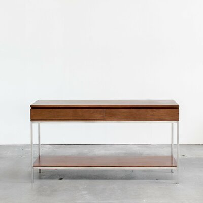 Brayden Studio Rayna Console Table Color: Classic Walnut