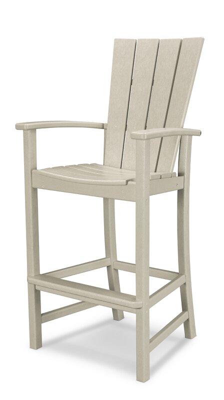 polywood® quattro adirondack bar chair & reviews   wayfair