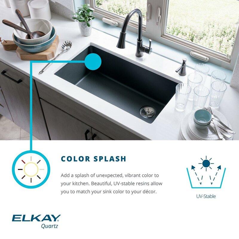 elkay quartz classic 25   x 19   undermount kitchen sink  u0026 reviews   perigold elkay quartz classic 25   x 19   undermount kitchen sink  u0026 reviews      rh   perigold com