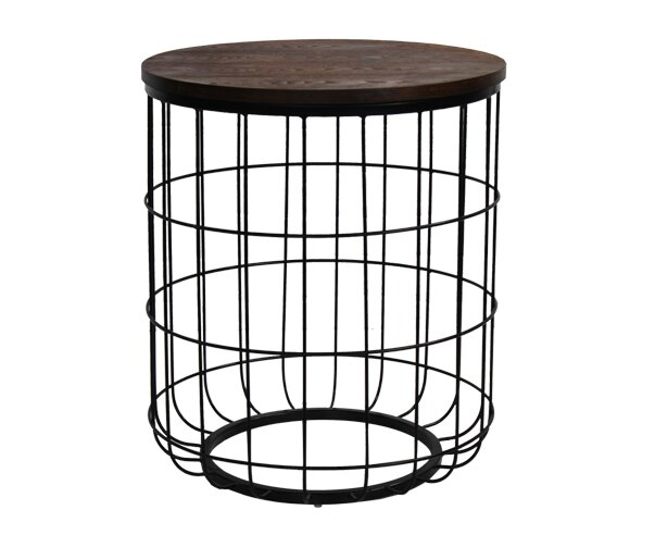 Bon Williston Forge Helsel Industrial Wire End Table | Wayfair