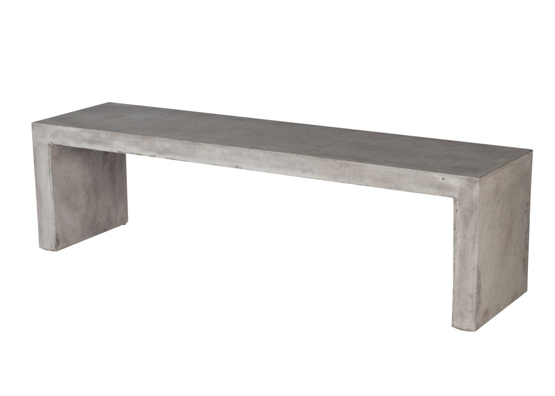 Colegrove backless concrete garden bench