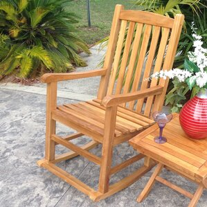 Chic Teak Rocking Chair Image
