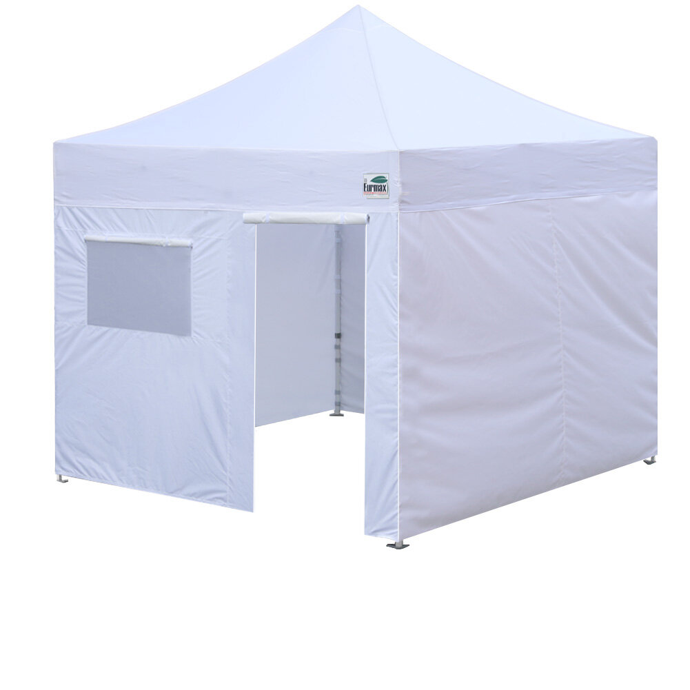 Commercial 10 Ft  W x 10 Ft  D Steel Pop-Up Canopy