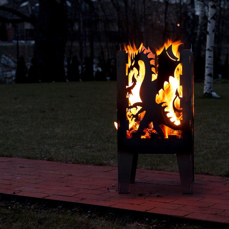 Dragon Steel Wood Fire Pit - Curonian Dragon Steel Wood Fire Pit Wayfair
