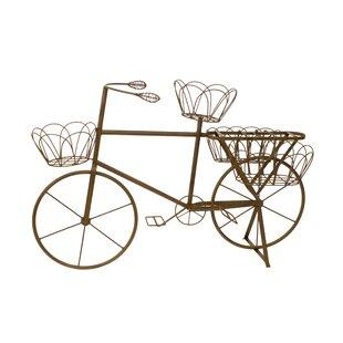 Metal Garden Art Bike With Baskets
