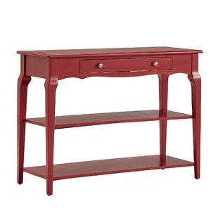 red console tables you ll love in 2019 wayfair rh wayfair com red cedar sofa table rustic red sofa table