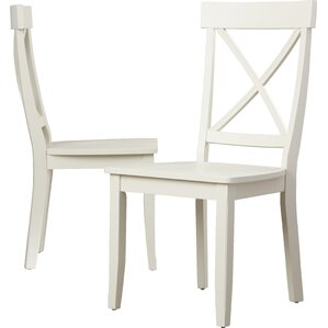 Parkerton Solid Wood Dining Chair (Set of 2) by Loon Peak