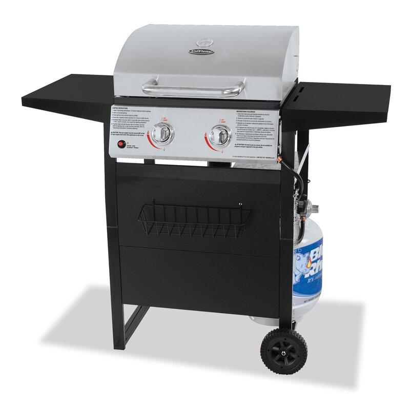 Mr. Bar-B-Q Rhino Outdoor 2-Burner Propane Gas Grill with ...