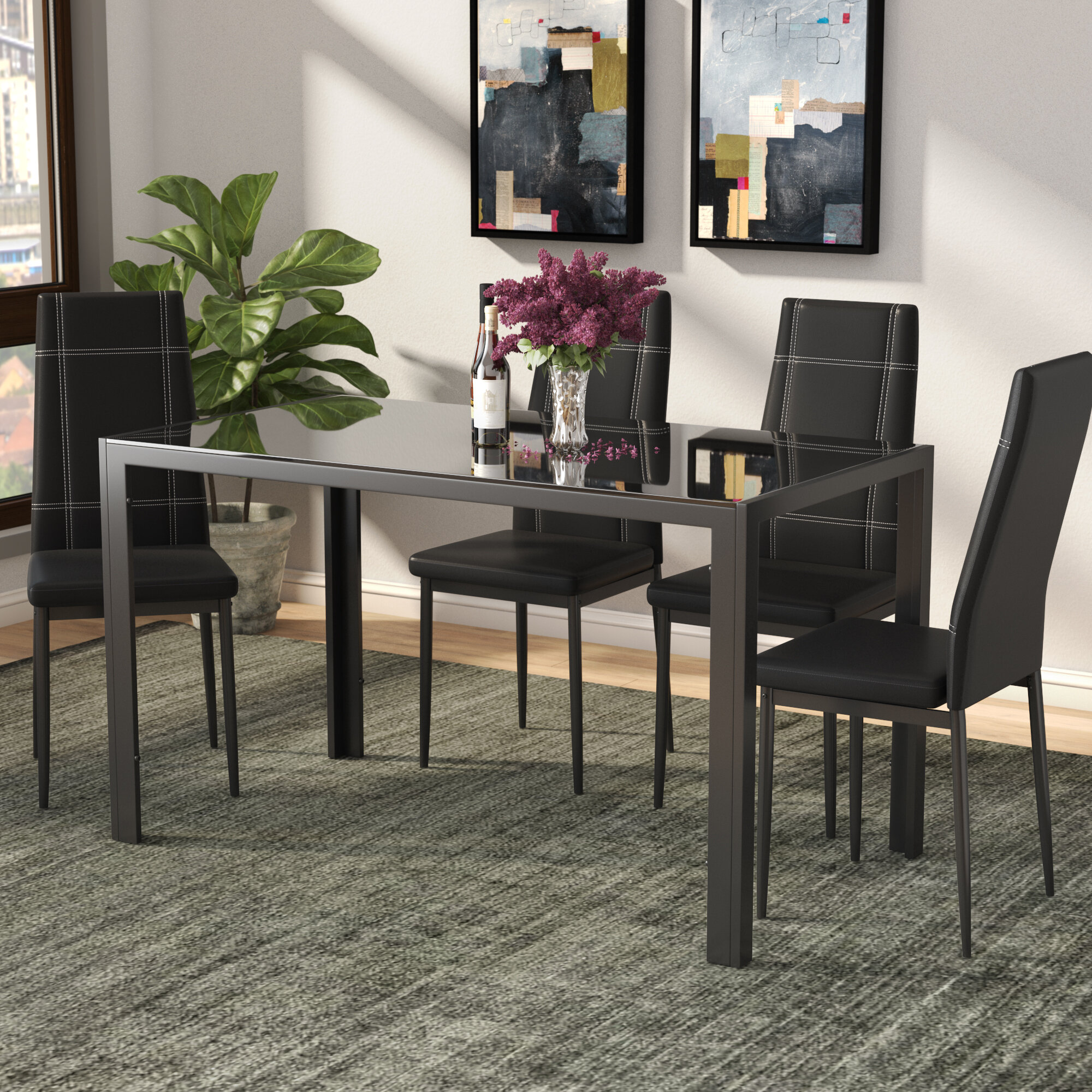 Ebern Designs Maynard 5 Piece Dining Set   Reviews  dde1747497e6