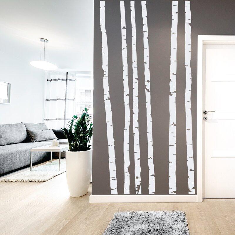 Wallums Wall Decor Birch Tree Trunk Wall Decal Wayfair