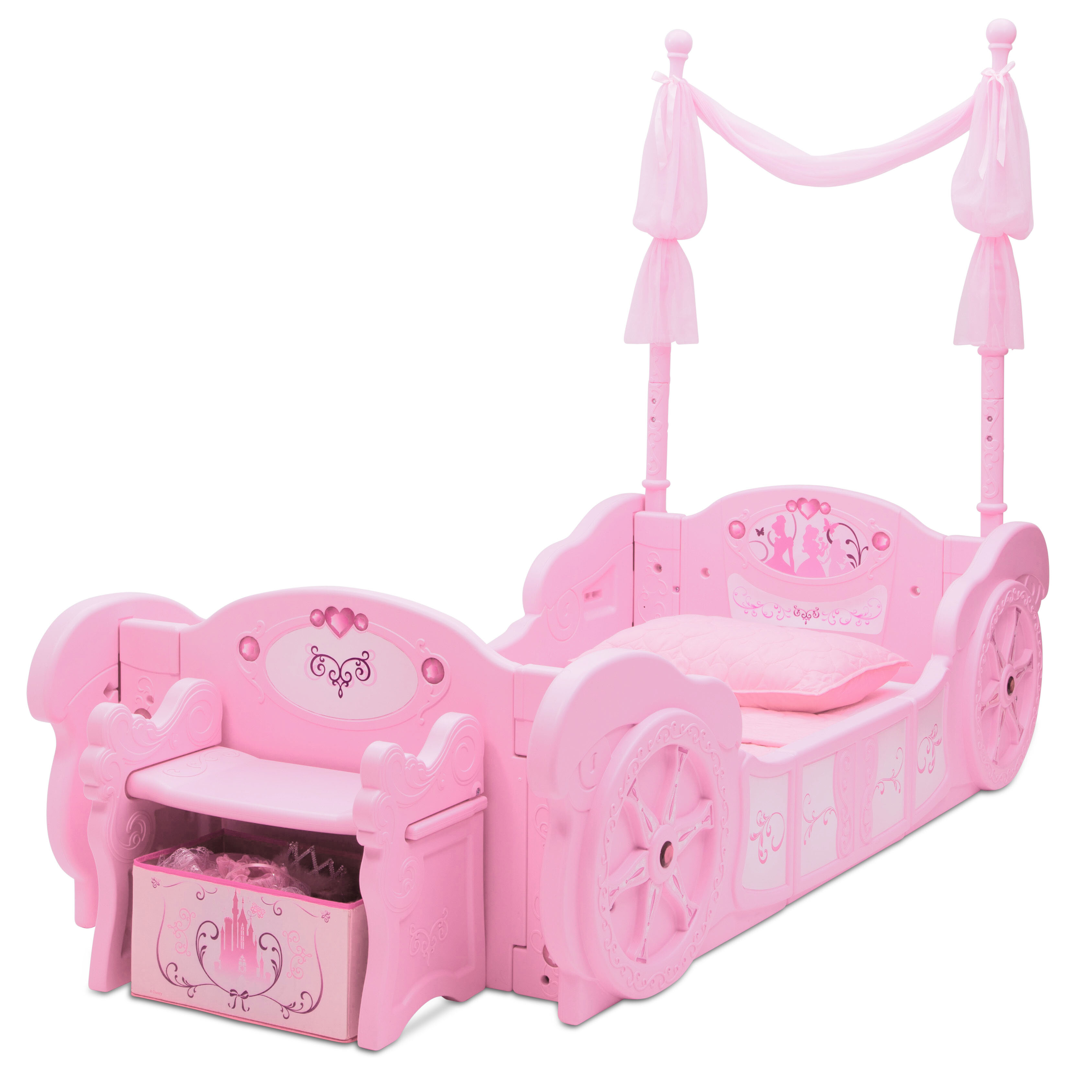 Disney Princess Carriage Twin Convertible Toddler Bed