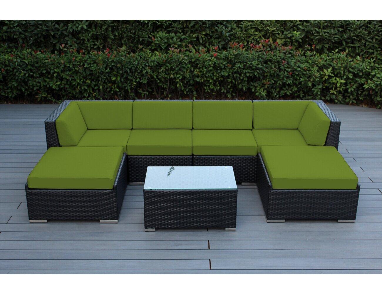 Table Baril wade logan baril 7 piece sofa set with cushions & reviews | wayfair
