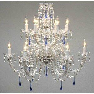 12-Light Crystal Chandelier