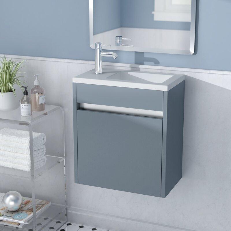 Han 17 Wall Mounted Single Bathroom Vanity Set