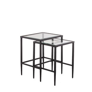 Harlan Nesting Tables (Set of 2)  sc 1 st  AllModern : tables set - pezcame.com