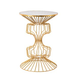 Alcinous Iron Wire End Table by Everly Quinn