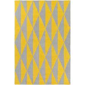 hilda sonja handcrafted yellowgray area rug
