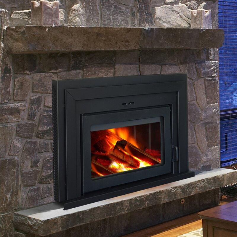 Supreme fireplaces inc fusion wood burning fireplace for Modern wood burning fireplace insert
