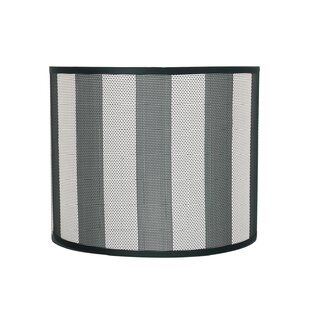 Striped lamp shade wayfair transitional 12 fabric drum striped lamp shade mozeypictures Image collections